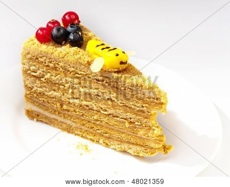 Piece of the honey cake