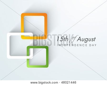 Creative Illustration for Indian Independence Day with tricolors.