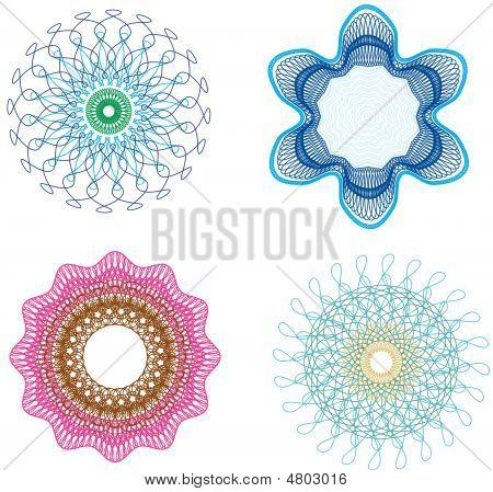 Decorative Guilloche Elements