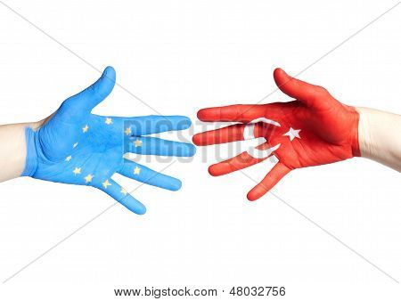 European And Turkey Hands