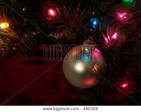 Lone Silver Ornament