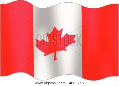 Undulating Flag Of Canada
