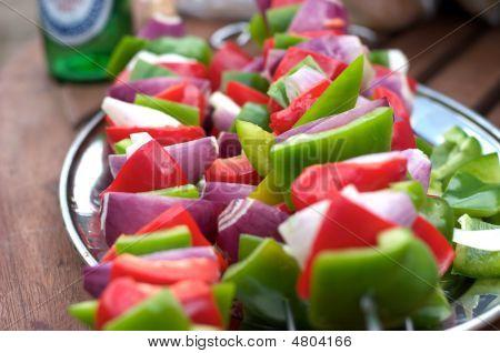 Bbq Food Vegetable Kebabs