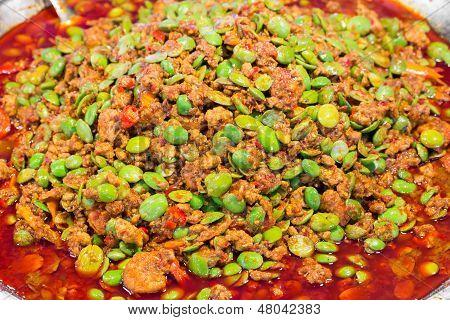 Stir Fried Stink Beans With Shrimp