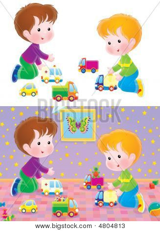 Boys Playing With Cars