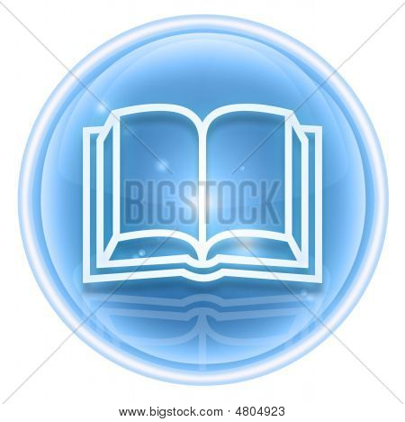 Book Icon Ice, Isolated On White Background.
