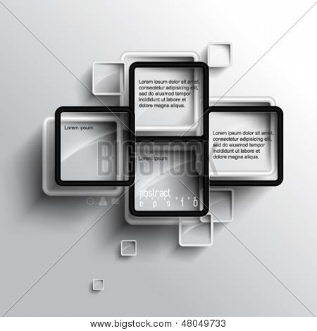 eps10 vector embossed frame elements background