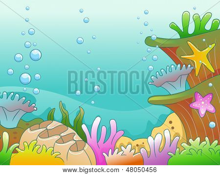 Illustration of Underwater Scene