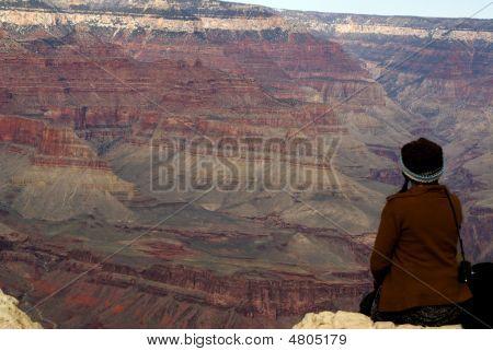 Woman And Grand Canyon