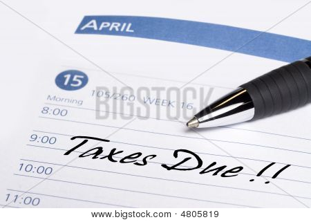 Taxes Due Datebook Reminder
