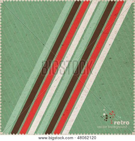 Stylish Retro Vintage Stripe Background, Invitation Card, EPS10