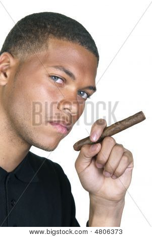African American Man With Cigar