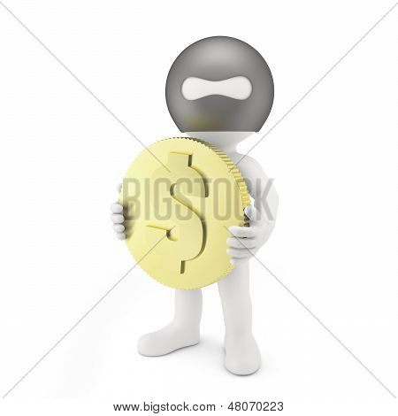 Thief With A Dollar Coin