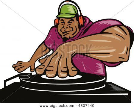 Deejay spielen Musik