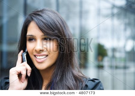 Indian Businesswoman On The Phone