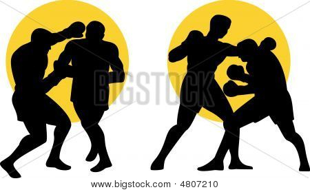 Boxing Silhouette