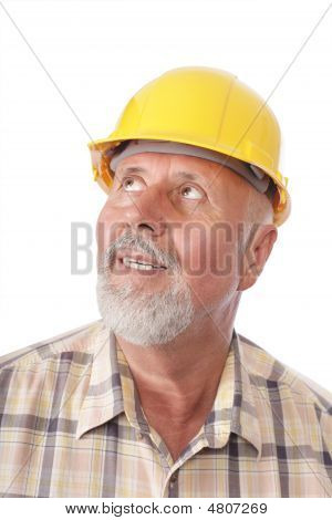 Builder Looking Away