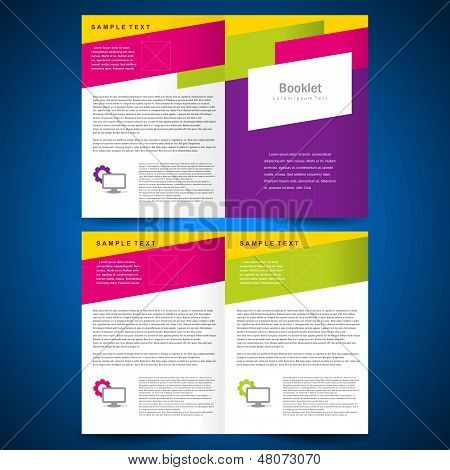 Booklet Catalog Brochure Folder Colorful Line
