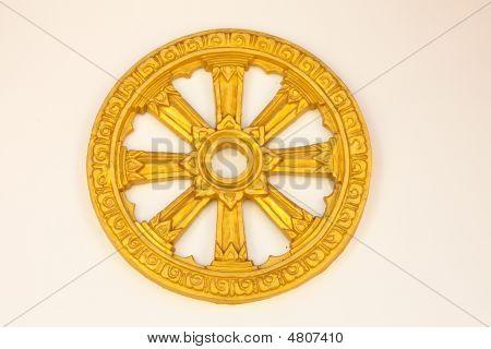 Wheel Of Dhamma Symbol Of Buddhism