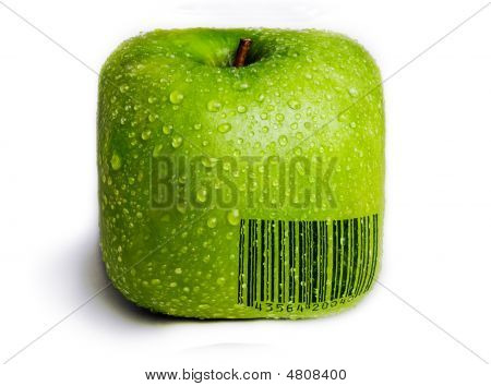 Isolated Square Green Apple