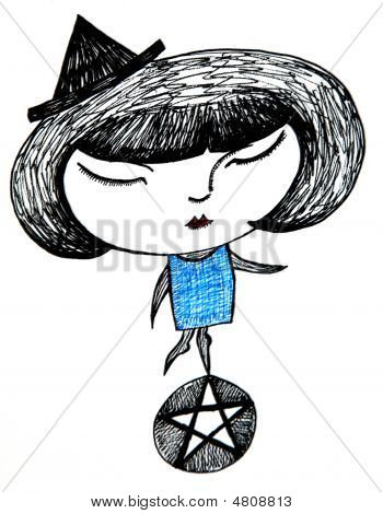 Witch On A Pentacle