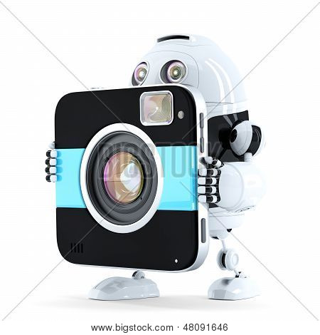 Robot Walking With Digital Camera