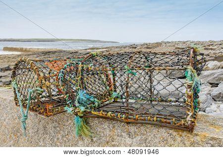 Lobster traps on Aran Islands