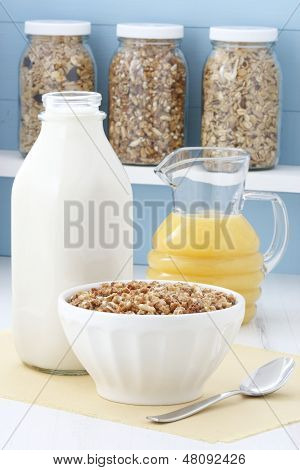 Delicious Healthy Cereal Breakfast