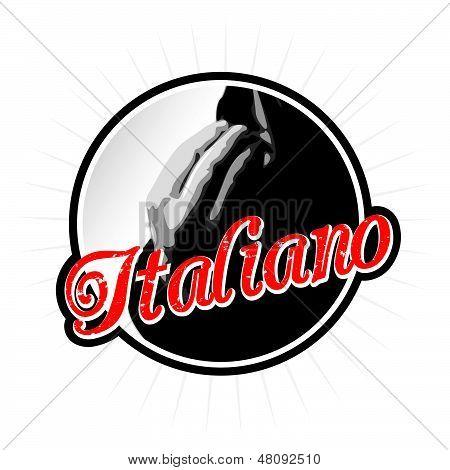 Speaking Italian Emblem