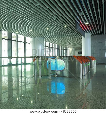 Interior Of The Modern Architectural At Automatic Fare Gate