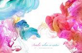 picture of liquid  - Acrylic colors in water - JPG