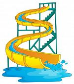 stock photo of chute  - Image with aquapark theme 2  - JPG
