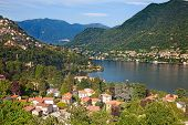 Panoramic view of Cernobbio town (Como lake, Italy)