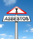 foto of asbestos  - Illustration depicting a sign with an asbestos concept - JPG