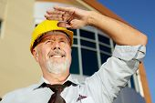 picture of people work  - Civil engineer looking toward the future and smiling - JPG