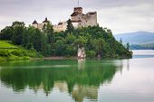 Medieval Niedzica Castle at Czorsztyn Lake in Poland