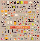 135 vector icons. Big set. Traveling, Business, Economy, Web, Internet, Ecology, Market, Phones, Tab