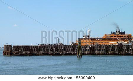 Port Scenery In New York