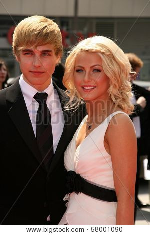 Cody Linley and Juliana Huff  At the 60th Primetime Creative Arts Emmy Awards Red Carpet. Nokia Live Theater, Los Angeles, CA. 09-13-08