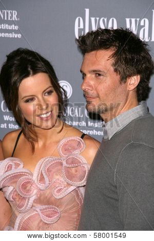 Kate Beckinsale and Len Wiseman  at the 4th Annual Pink Party. Santa Monica Airport, Santa Monica, CA. 09-13-08