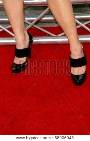 Sally Pressman's shoes  at the Los Angeles Premiere of 'My Best Friend's Girl'. Arclight Hollywood, Hollywood, CA. 09-15-08