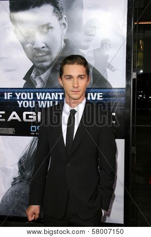 Shia LaBeouf  at the Los Angeles Premiere of 'Eagle Eye'. Mann's Chinese Theatre, Hollywood, CA. 09-16-08