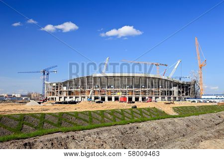 The Construction Of Football Stadium