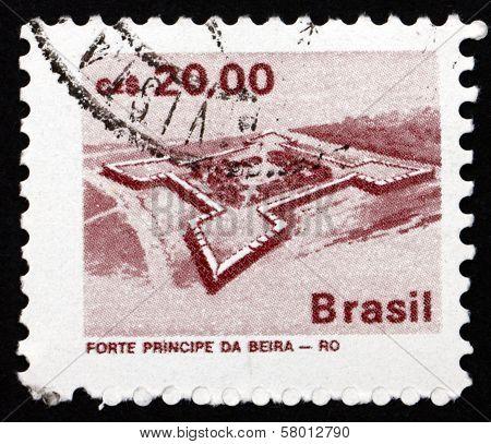 Postage Stamp Brazil 1986 Principe Da Beiro Fort