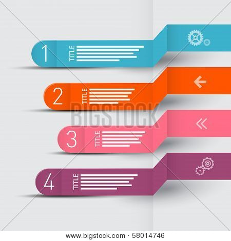 Vector Paper Progress Steps For Tutorial, Infographics Layout