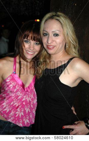 Amy Paffrath and Jennifer Leeser  at the Birthday Party for Jennifer Leeser. Medusa Lounge, Los Angeles, CA. 09-25-08