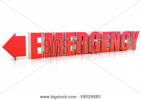 Emergency text sign