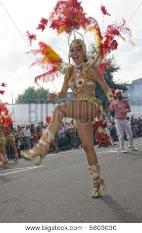 Street dancer at a London Carnival