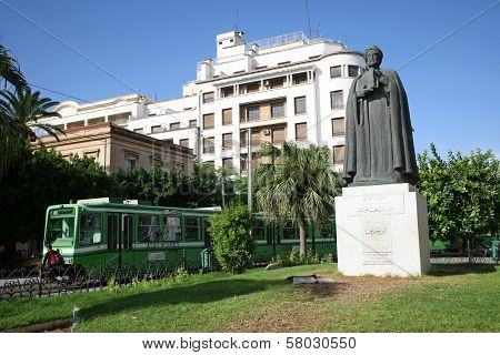 Statue Of Ibn Khaldoun In Tunis