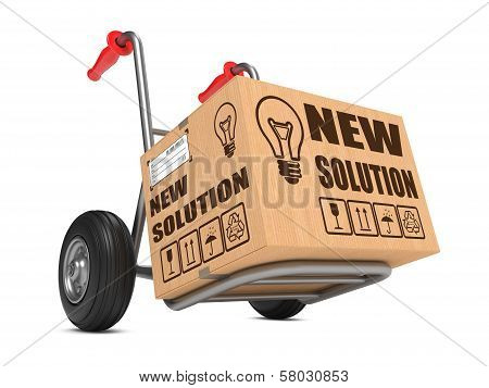 New Solution - Cardboard Box on Hand Truck.